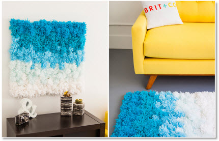 Pom Pom Wall Hanging a pom pom rug, wall hanging and table cover in one, tutorial – felting
