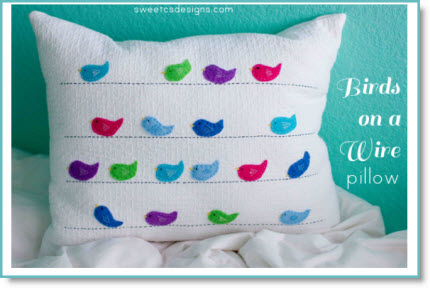 Felt Birds Pillow