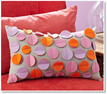 Felt Dimensional Dots Pillow