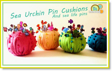 Felt Sea Urchin Pincushions