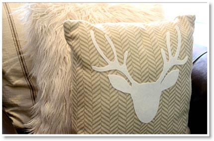 No-Sew Antler Pillow