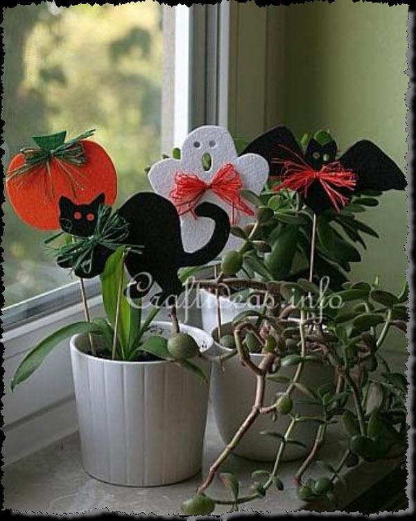 Halloween Felt Plant Sticks
