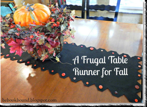 A Frugal Table Runner for Fall & Halloween