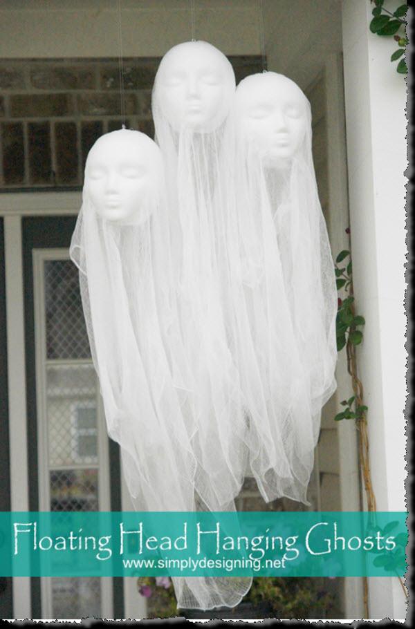 Floating Head Hanging Ghosts Tutorial