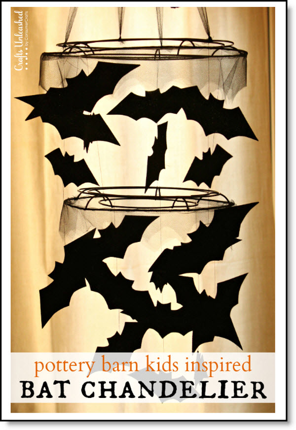 Halloween Bat Chandelier