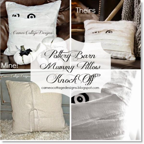 Pottery Barn Mummy Decorative Pillow Knock Off Felting