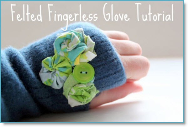 Felted Fingerless Glove