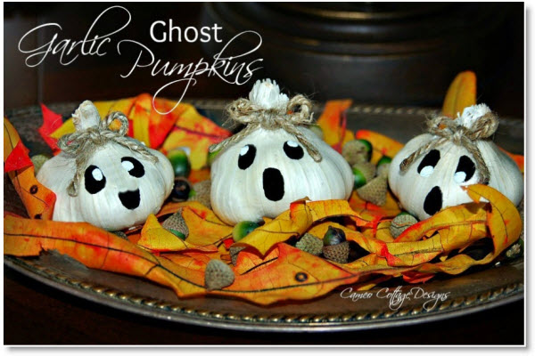 Garlic Ghost Pumpkins cute