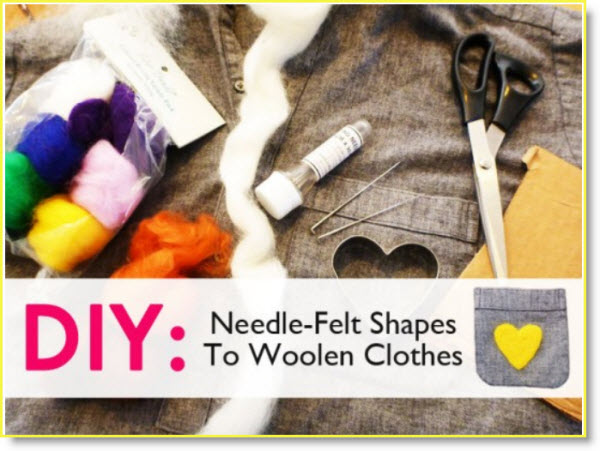 Needle-Felt Shapes to Woolen Clothes