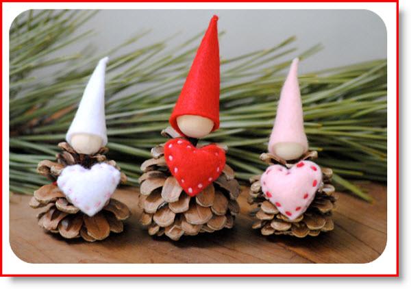 Valentine Gnome & Heart Pin