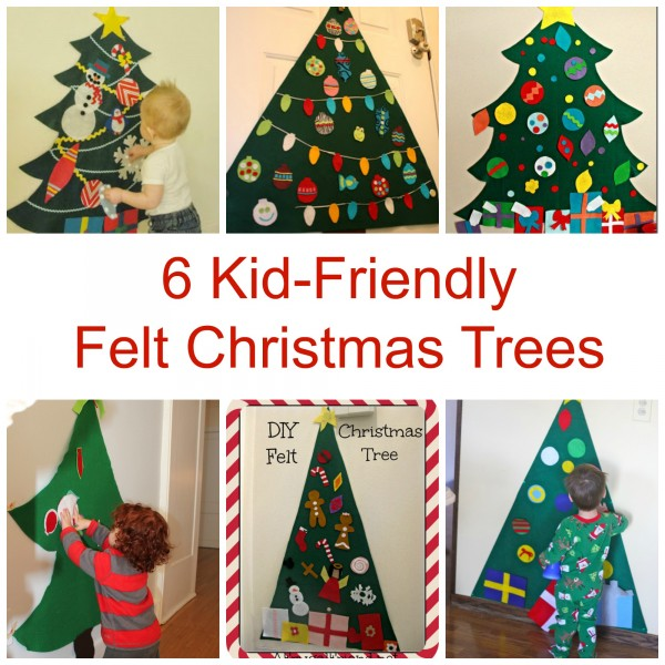 6 kid friendly felt christmas trees felting for Kid friendly christmas crafts