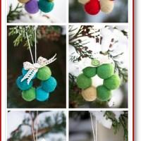 Tiny wool bead wreath tutorial