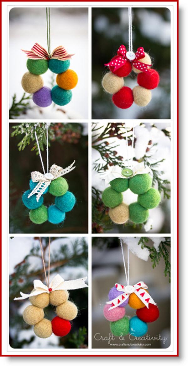 wool bead wreaths