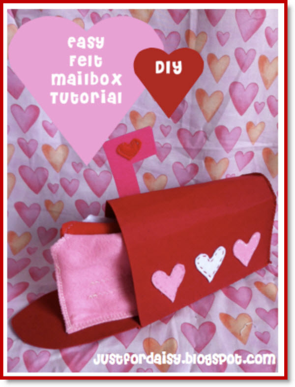 Felt Mailbox For Valentines Tutorial