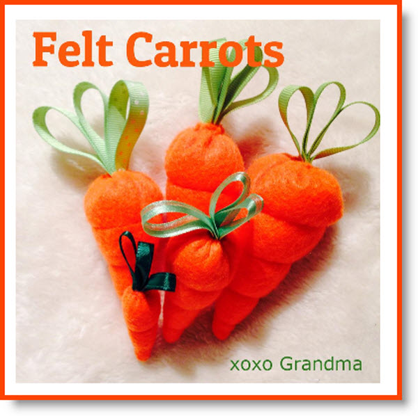 Felt Carrots for Easter