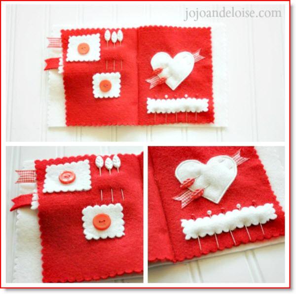 Valentine needle book