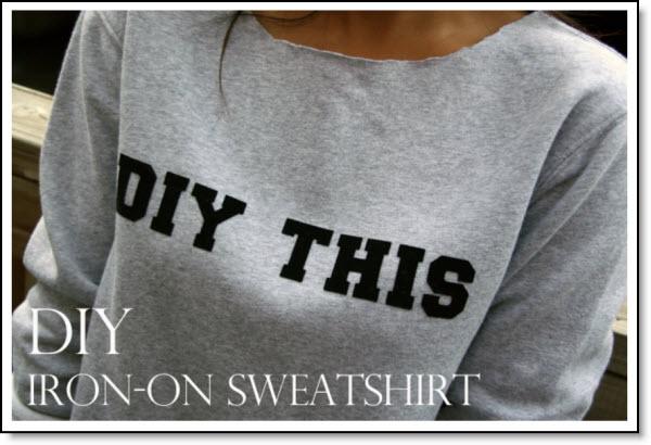 DIY Iron Letter Sweatshirt – Felting