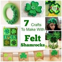 7 Crafts To Make With Felt Shamrocks