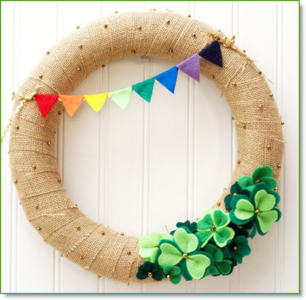 st. pat's wreath
