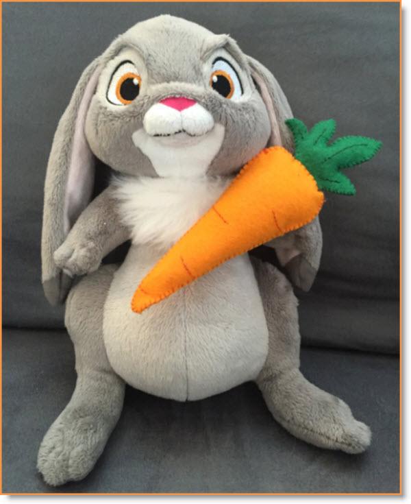 felt carrot pattern