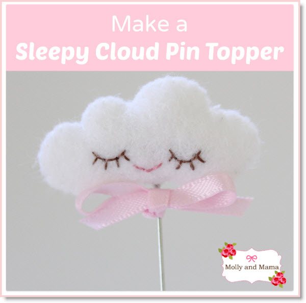 sleep cloud pin topper