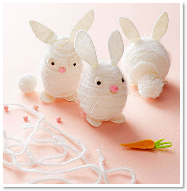 wrapped bunny eggs