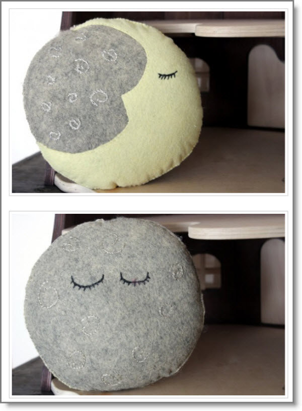 How To Make A Dream Pillow Moon Phases Free Pattern Felting