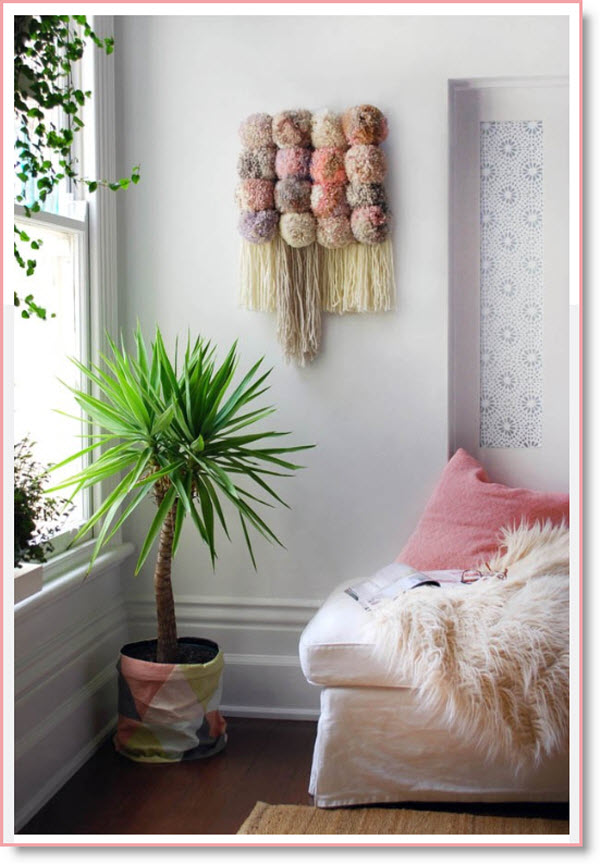 Tutorial Make A Pom Pom Wall Hanging Felting