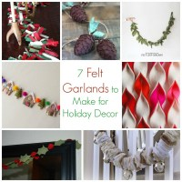 7 Felt Christmas Garlands to Make for Holiday Decor