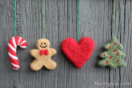 Needle Felted Christmas Ornaments