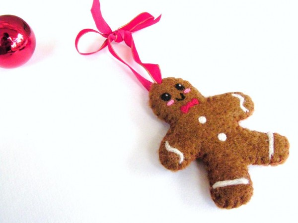Cookie Cutter Felted Gingerbread Man Tutorial