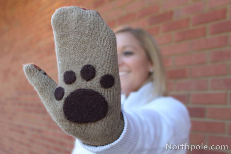 Felted Mitten Paws