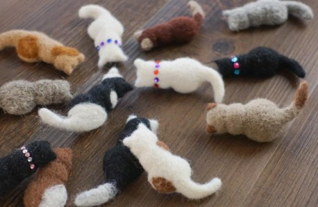Felted Kitty Cats