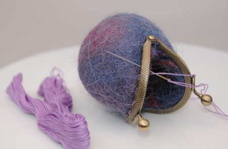 How To Make A Wet Felted Coin Purse In The Dryer