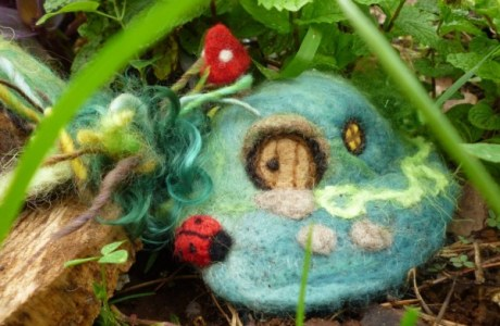 Felted Fairy House Tutorial