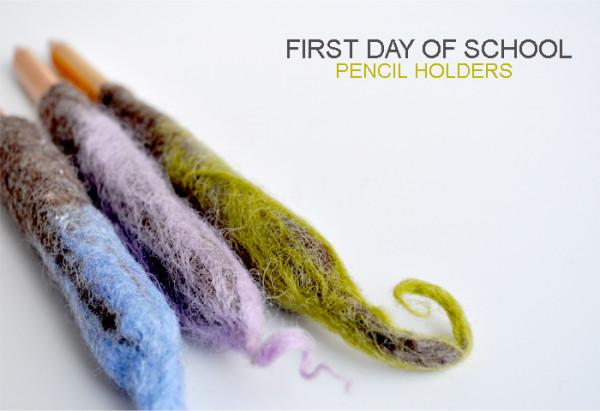 Wet Felted Twirly Pencils