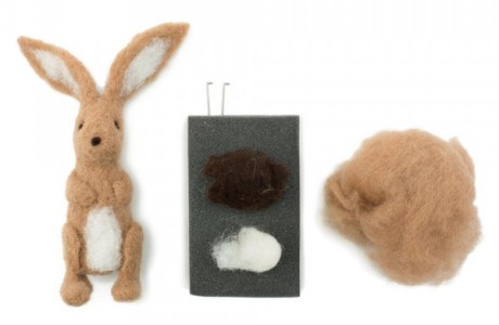 Needle Felted Rabbit Kit