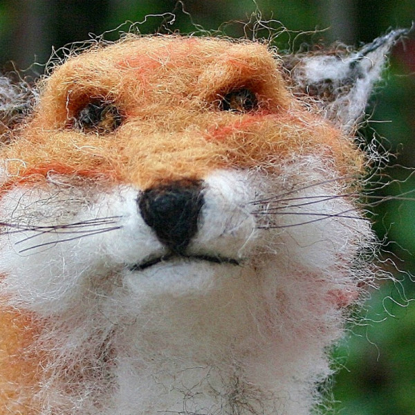 Needle felting eyes: adding detail and dimension