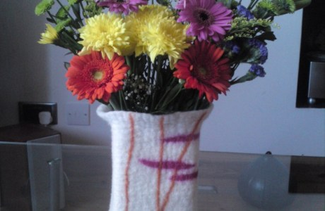 Felted Vase Tutorial