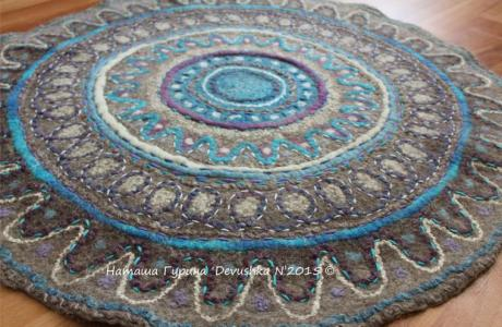 DIY Felted Floor Rug