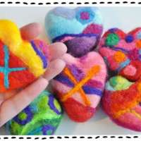 How To Make Heart Shape Felted Soaps