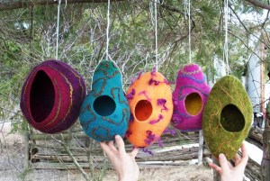 finished birdhouses 2