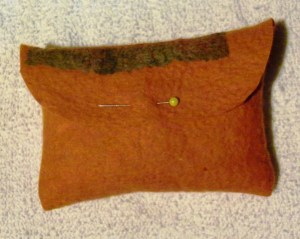square pouch after sewing closed