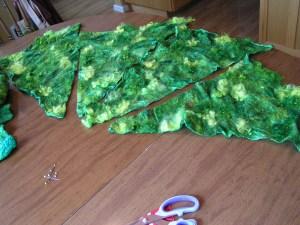 Cutting Green Nuno Felt