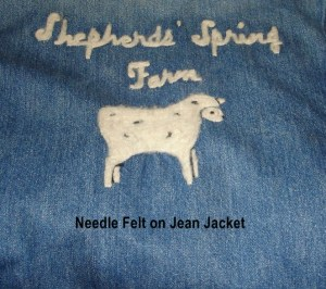 jean jacket back needlefelt