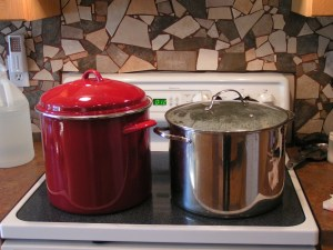 Dye Pots on the Stove
