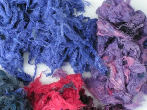Dyed Silk Noil