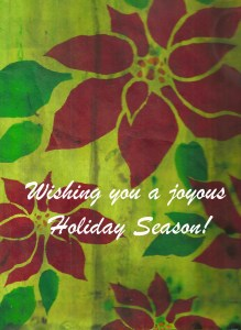Poinsettias Holiday Card