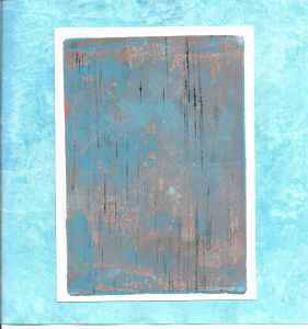 monoprint turquoise