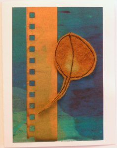 Felt Free Motion Stitched Eucalyptus Leaf Card